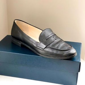 COLE HAAN Black Leather Loafers Size 9.5